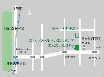 カトルカールバレエスタジオ地図